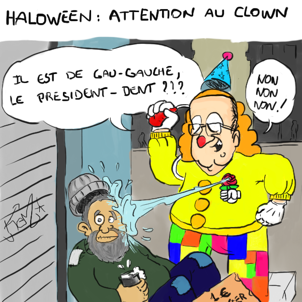 Hollande le clown
