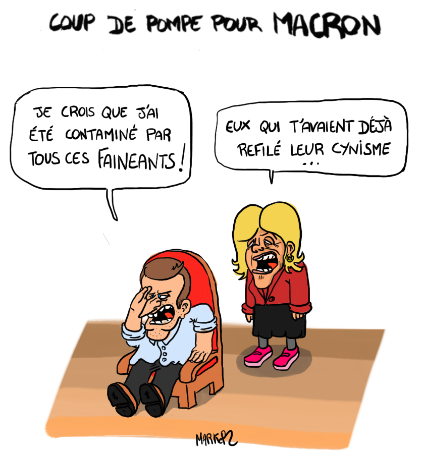 Macron fait un burn-out